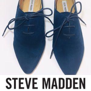 Steve Madden Blue Suede Shoes, Flats (Sz 8)